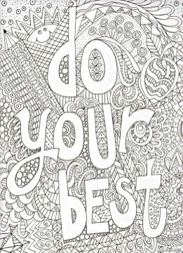 Inspirational Coloring Pages for Adult Do Your Best