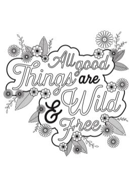 Inspirational Coloring Pages to Print Good Things