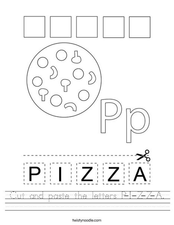 P Is for Pizza Coloring Pages sqr8