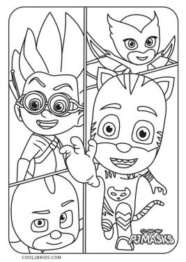 PJ Masks Coloring Pages Black and White Rome Does Not Look Like a Bad Guy