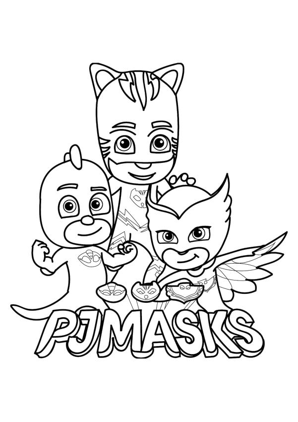 PJ Masks Coloring Pages Printable Strong Kid Superheroes