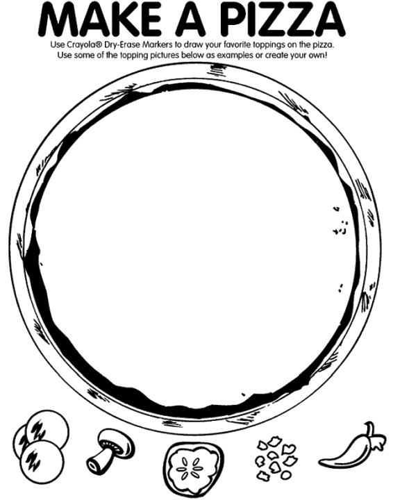 Pizza Coloring Pages Printable Blank Pizza Template