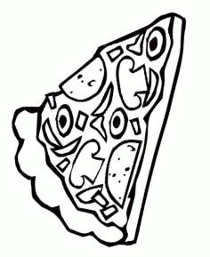 Pizza Toppings Coloring Pages A Slice of Tasty Pizza