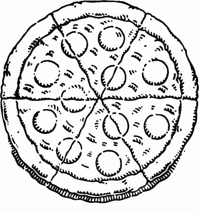 Pizza Toppings Coloring Pages Delicious Pepperoni Pizza