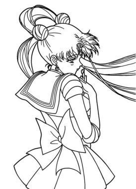 Sailor Moon Coloring Pages Free Sad Tsukino Usagi