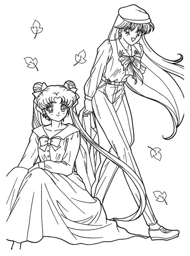 Sailor Moon Coloring Pages for Girls Casual Outfit