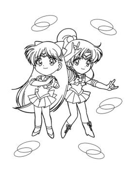 Sailor Moon Coloring Pages for Girls Chibi Sailor Moon