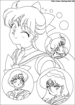 Sailor Moon and Friends Coloring Pages She Winks at Me