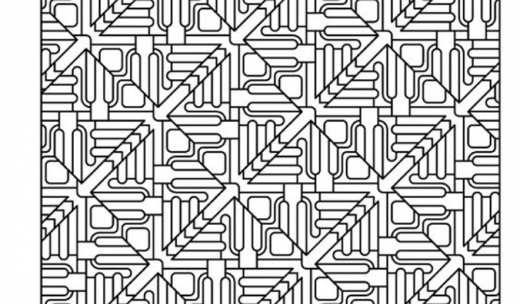 Get This Free Tessellation Coloring Pages Adult Printable
