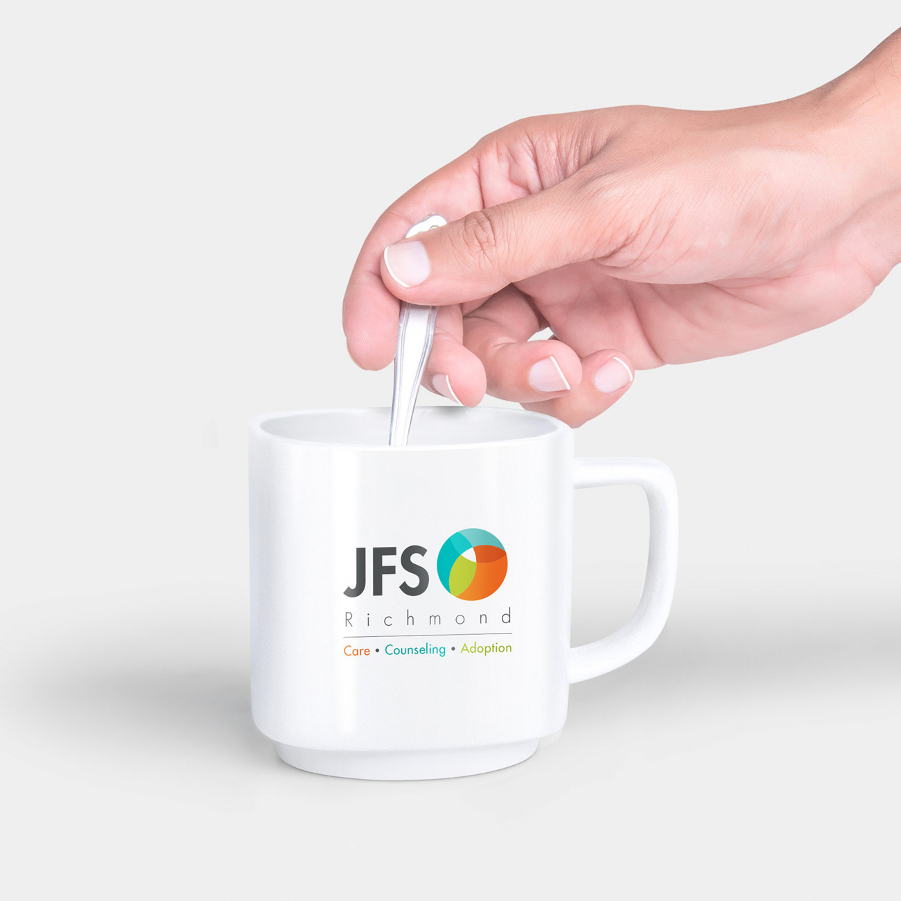 JFS Logo on coffee mug