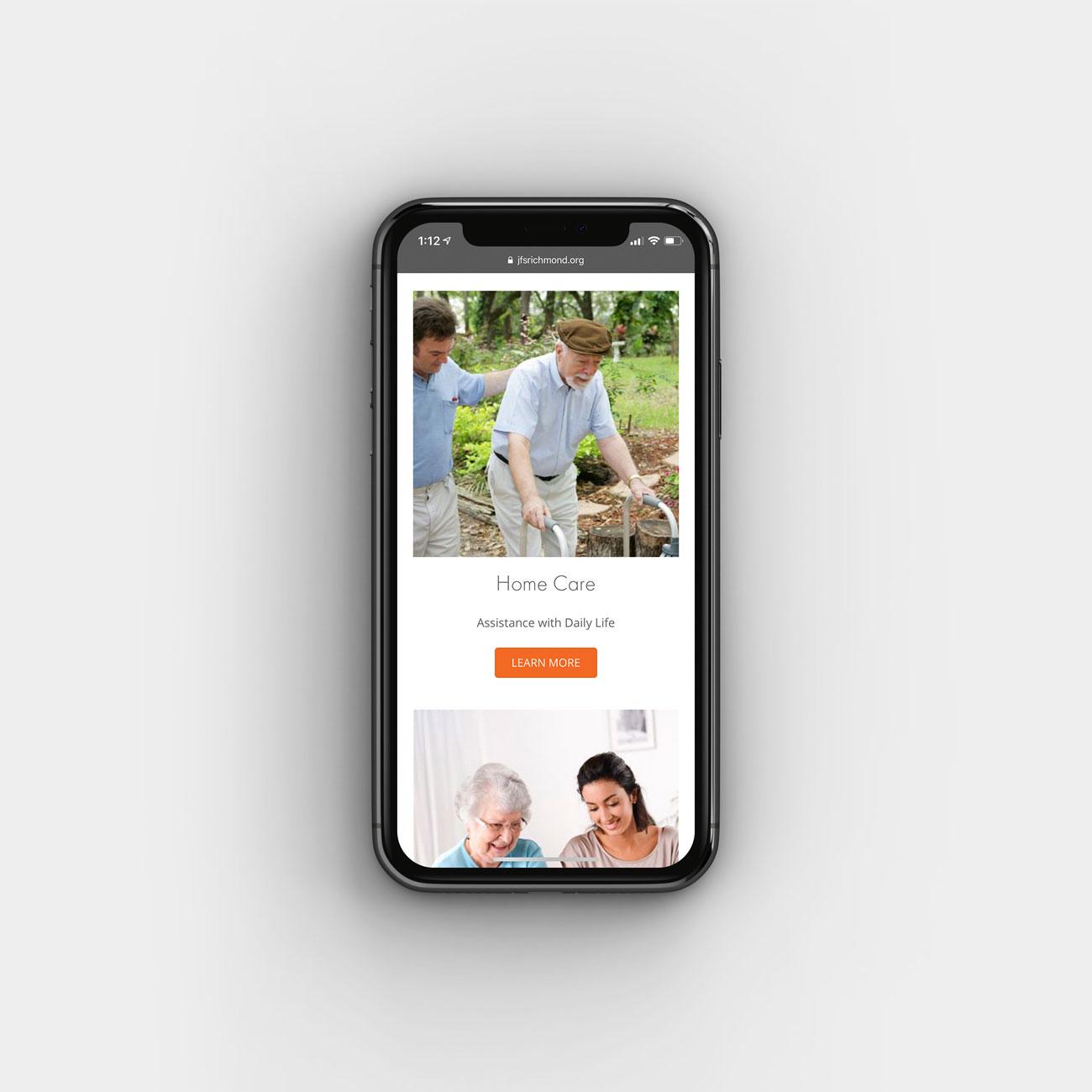 JFS Website on iPhone