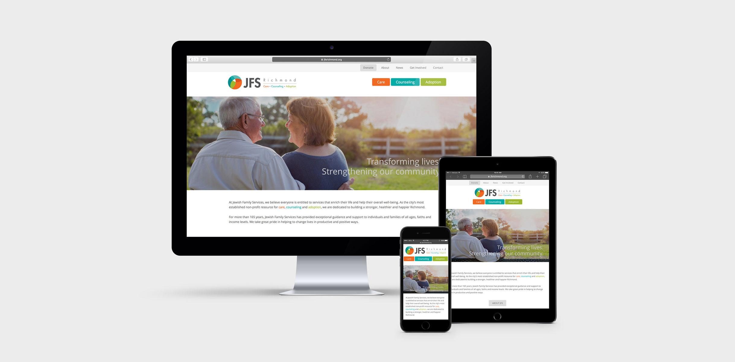 JFS Website on multiple devices