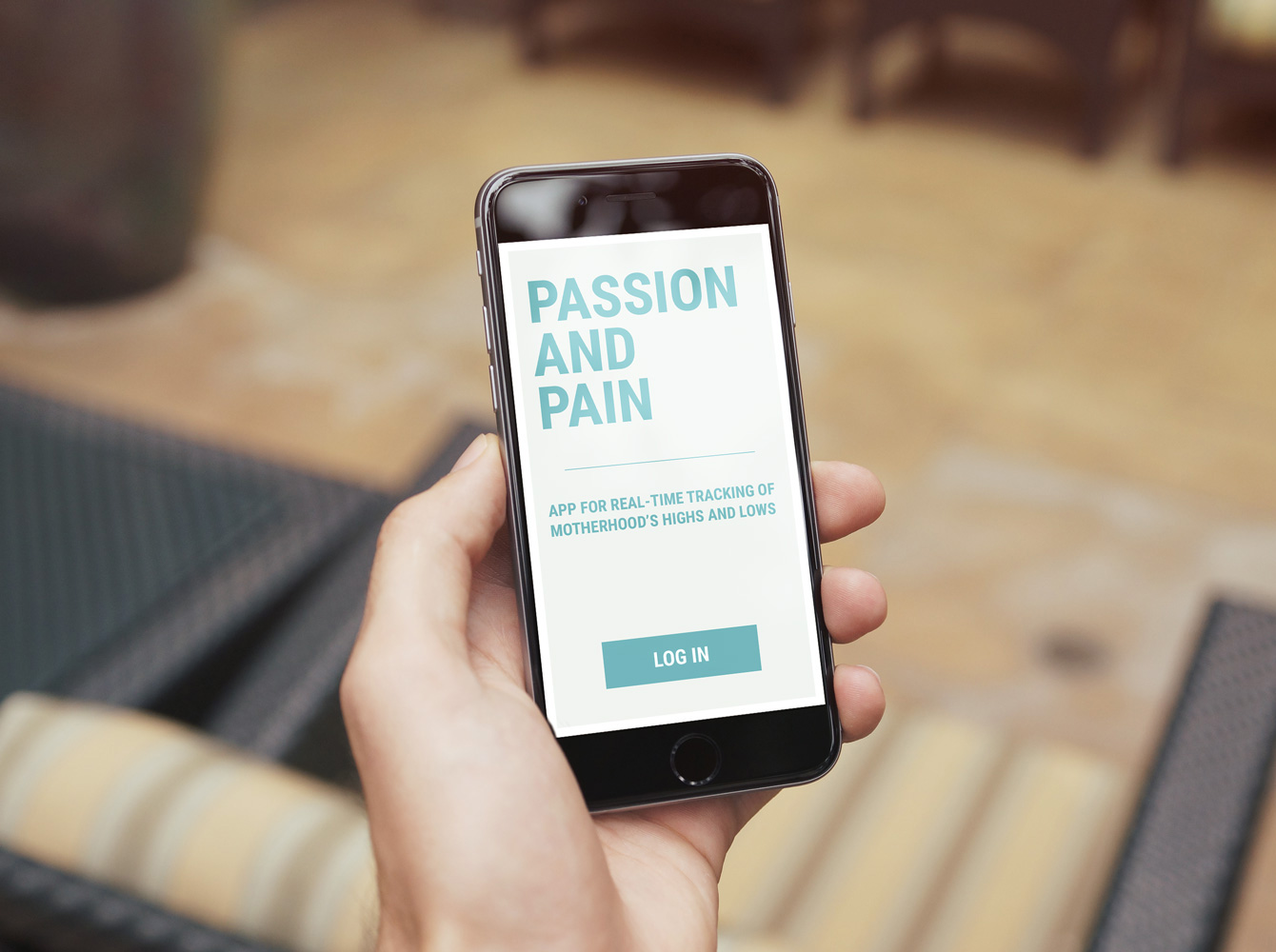 Passion and Pain app on mobile device