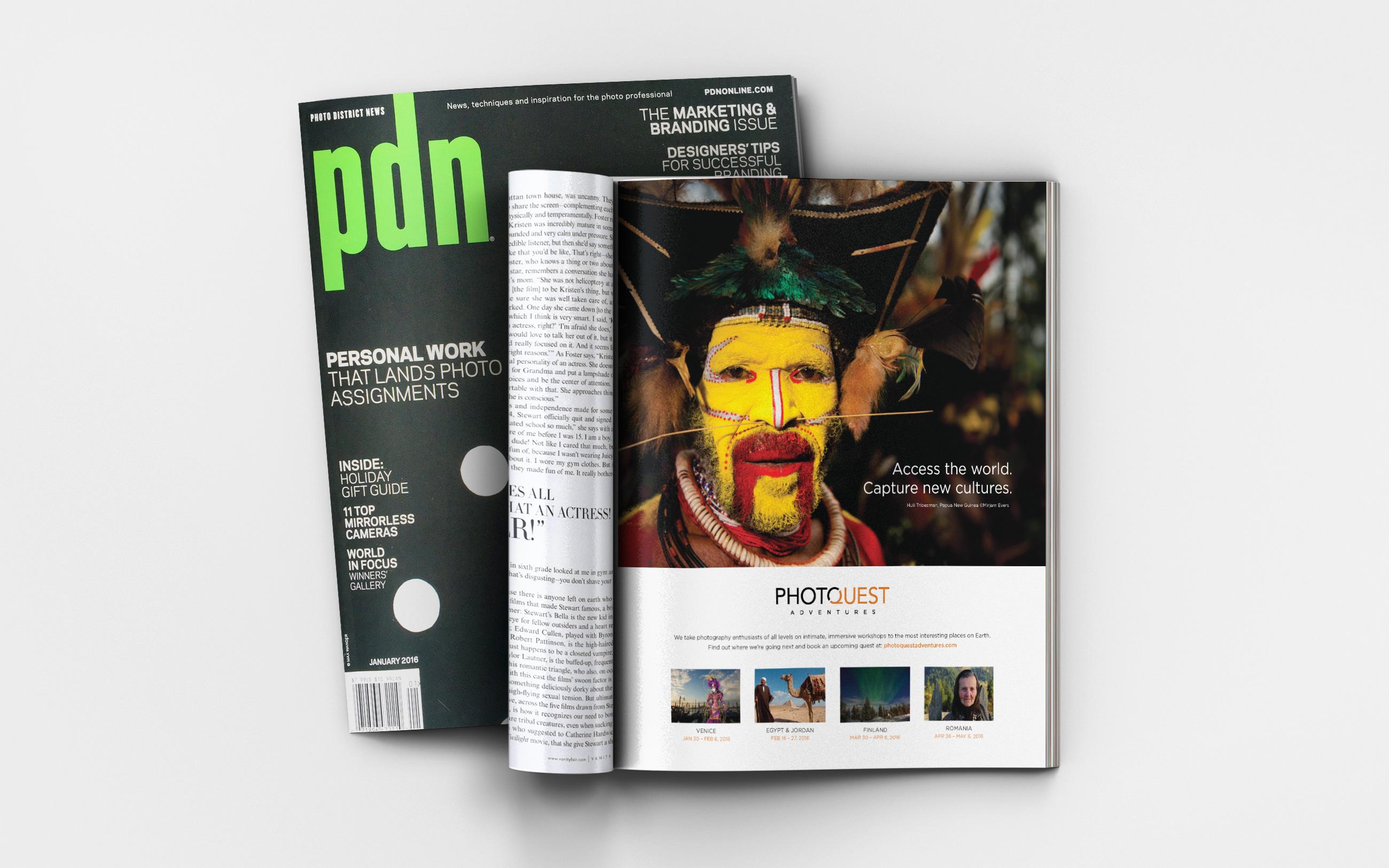 PhotoQuest print ad in PDN magazine