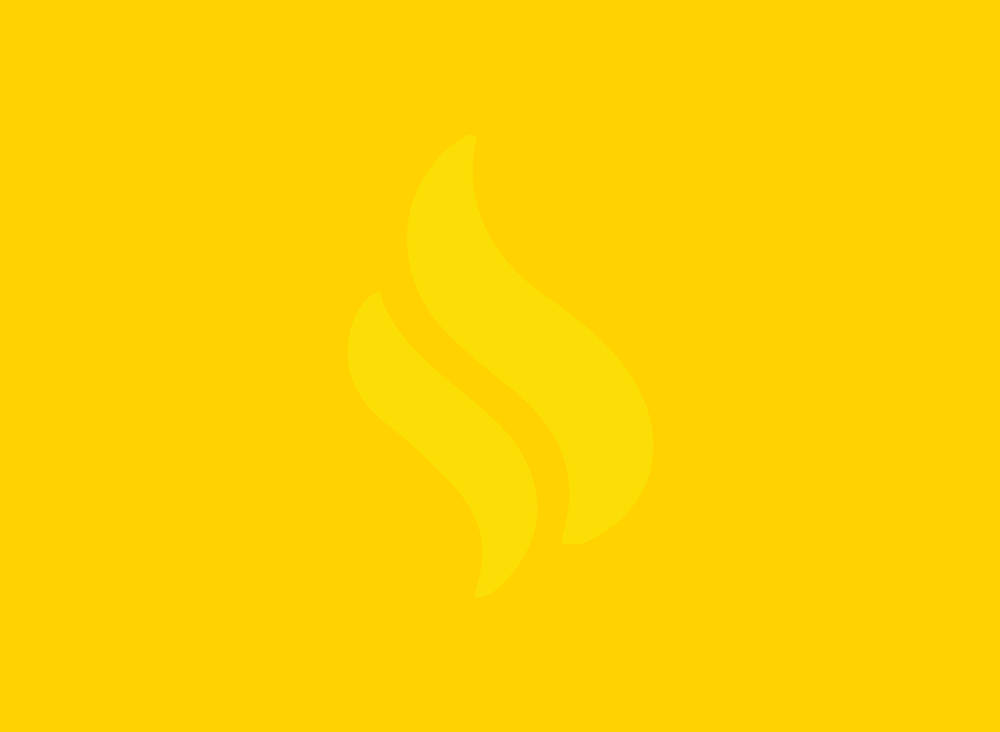 Flame icon on yellow background