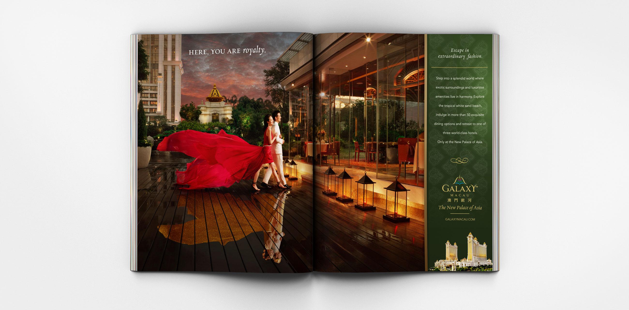 Dining ad magazine spread