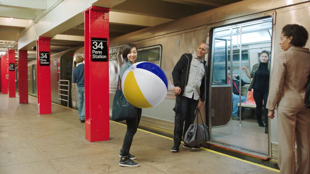 TV Still of subway riders