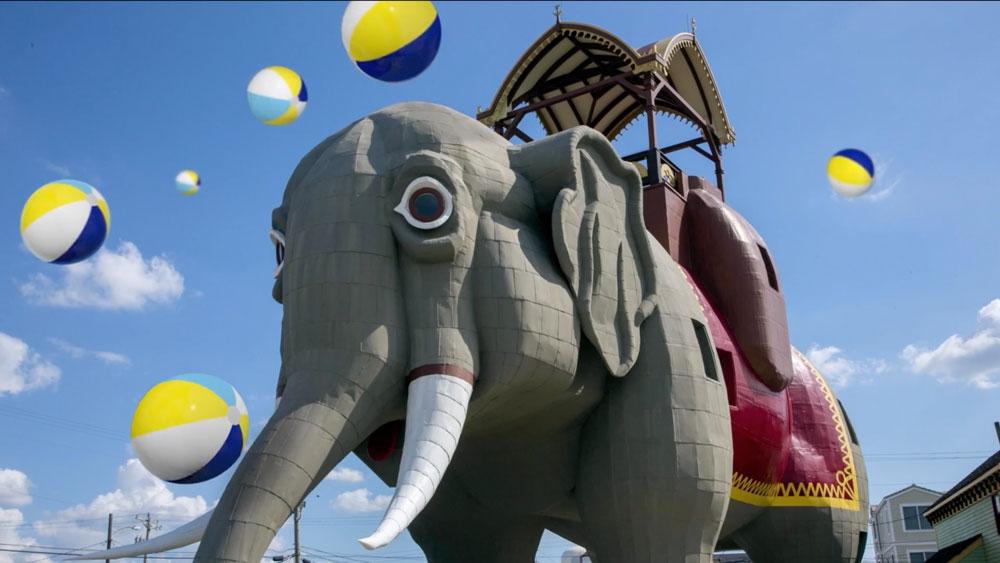 TV Still of Atlantic City elephant