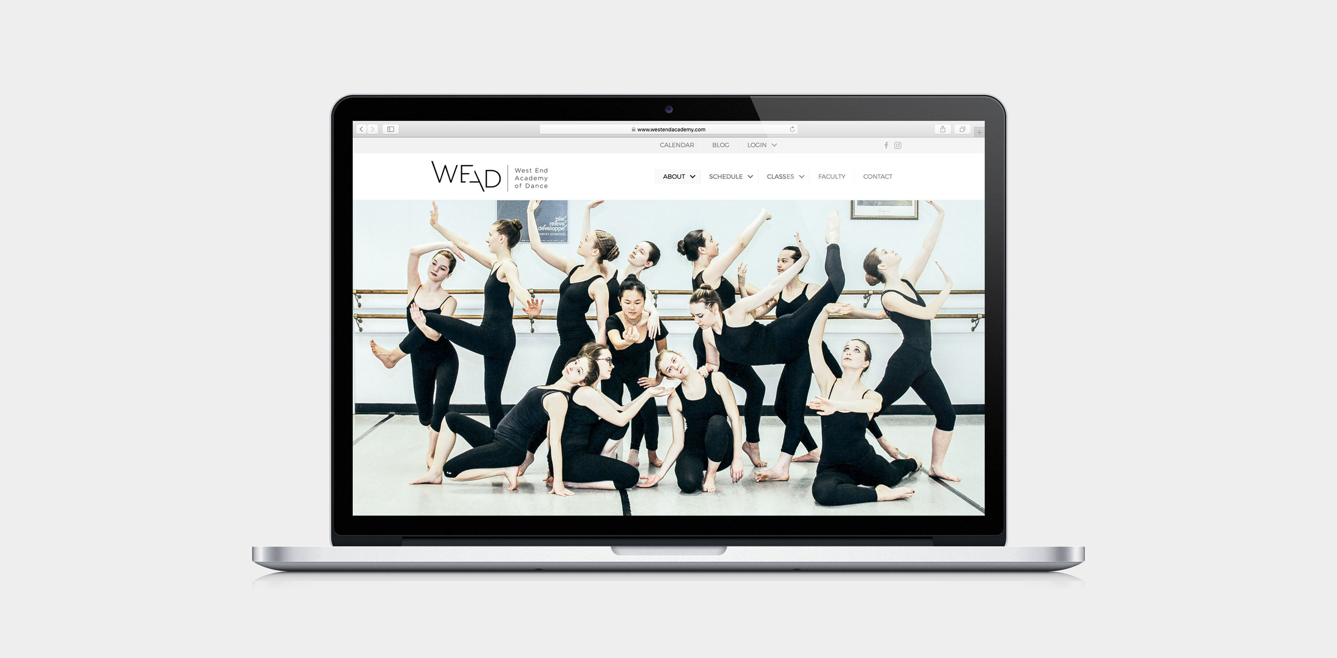 WEAD website on laptop