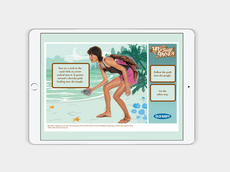 ipad game screen of beach