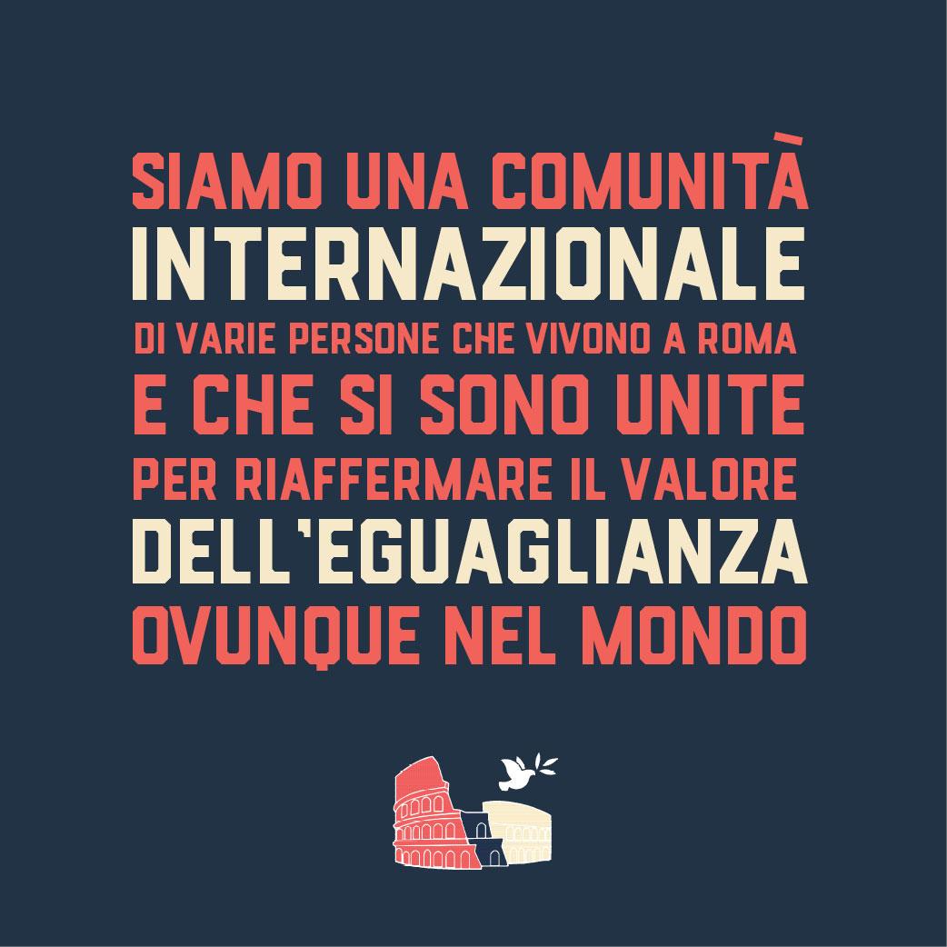 Social media post in Italian