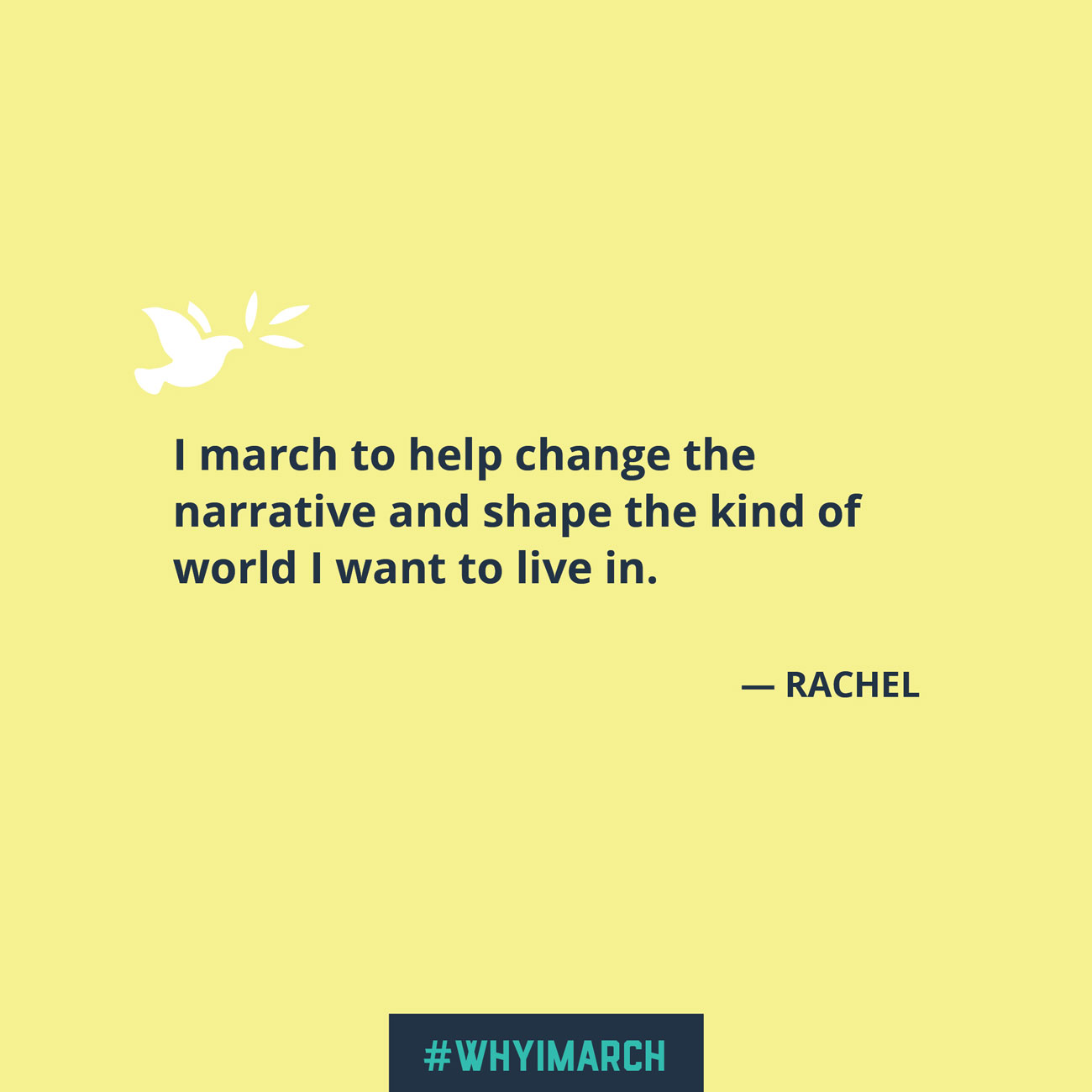 Social media quote - Rachel