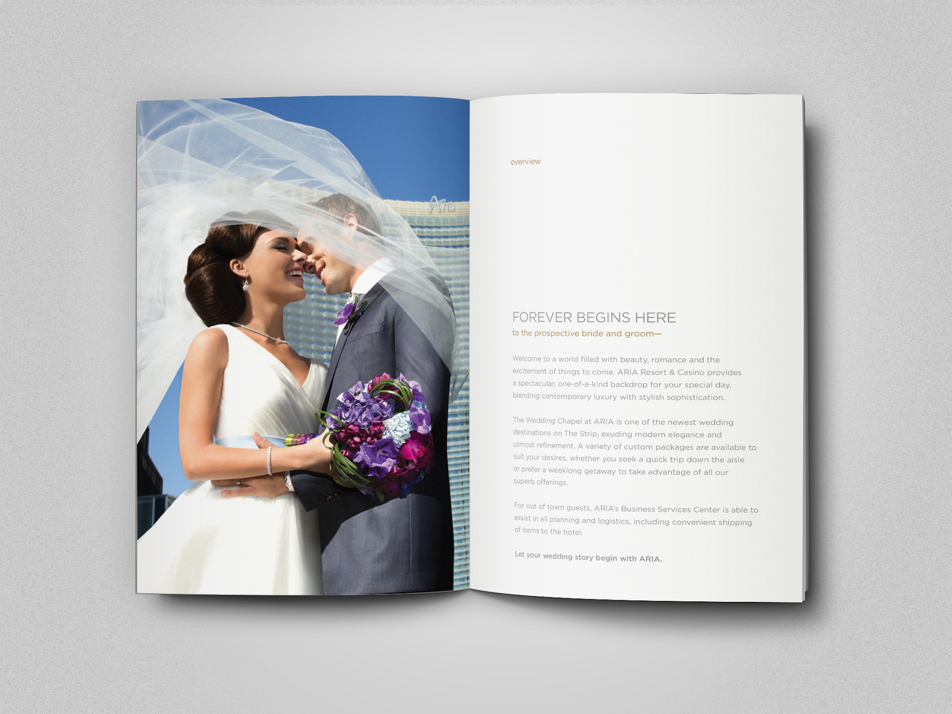 Wedding chapel booklet spread