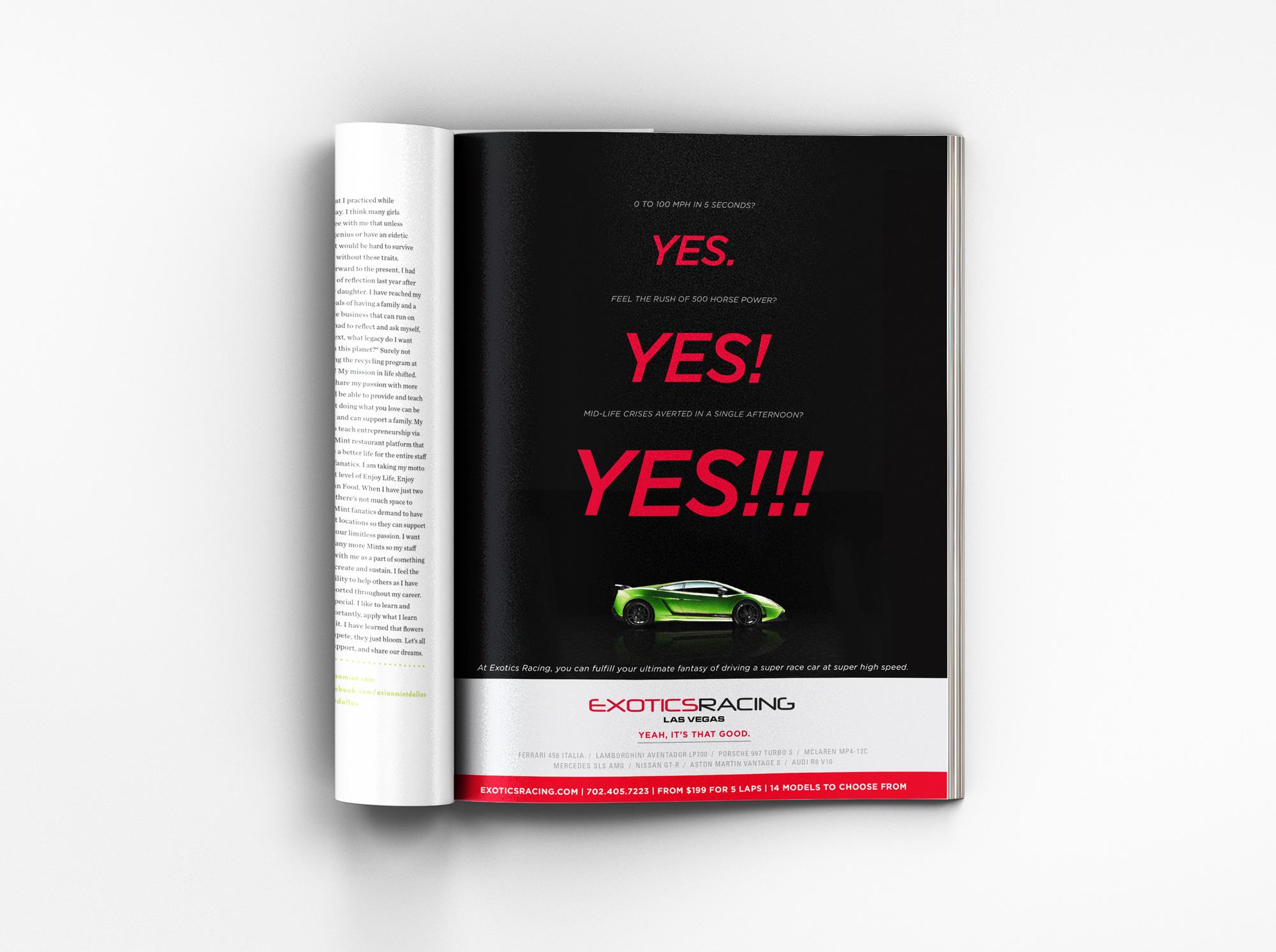 Magazine ad - yes