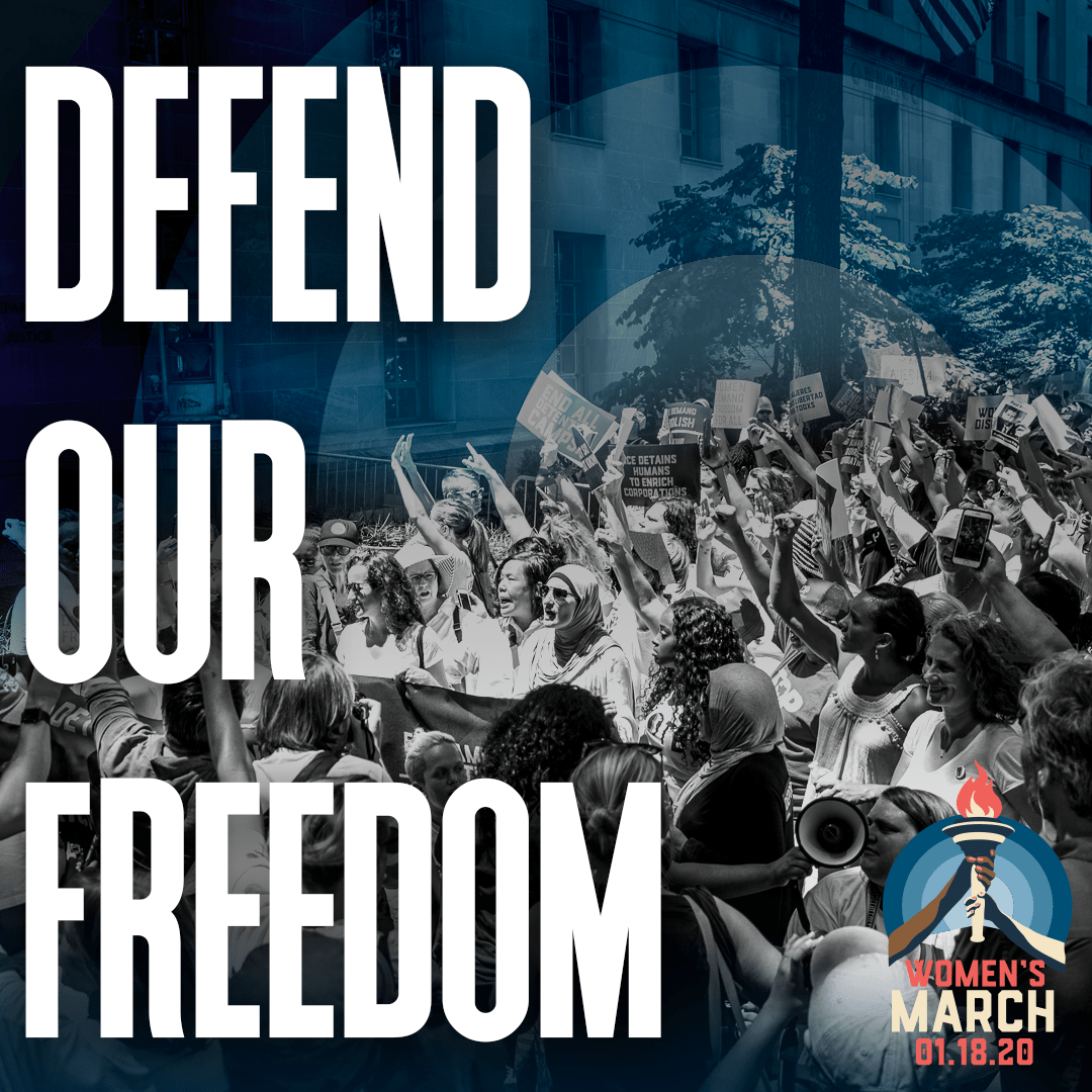 Social media graphic - Defend Our Freedom