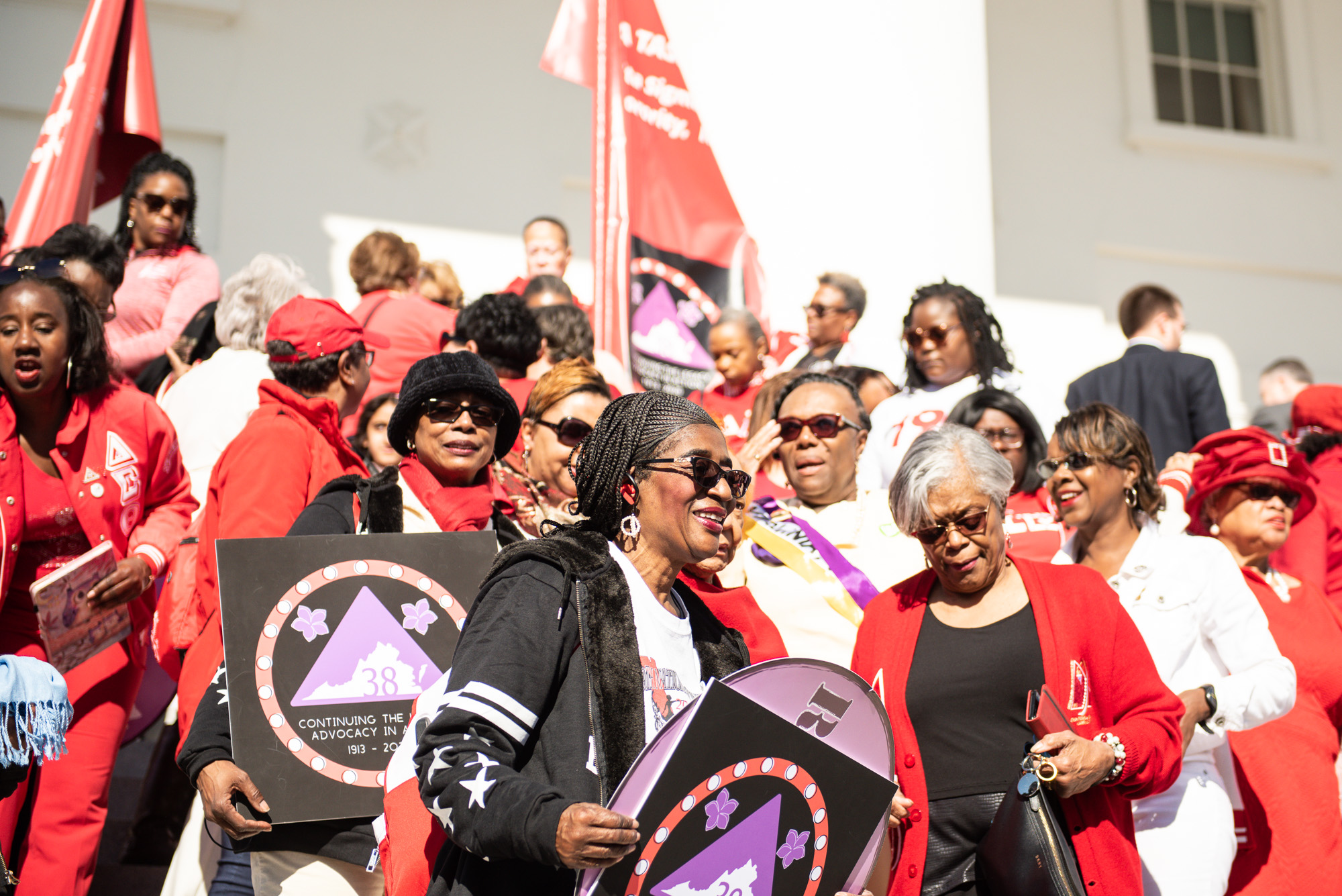 Delta Sigma Theta women on US Capitol steps