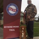 paul and nicholos with nose work award