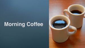 morning coffee banner