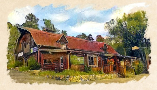 Historic Barn building painting - Evergreen Design Center