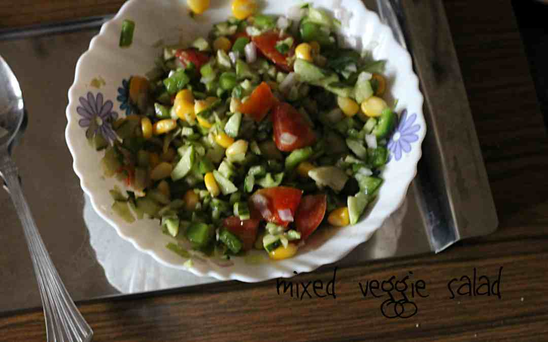 Mixed Vegetable Salad | healthy eating