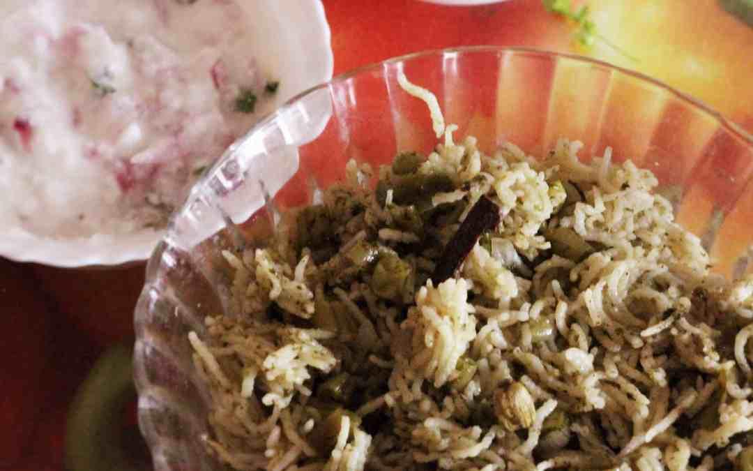 Green Pulao| how to make green pulao