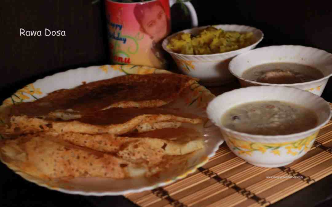 Rava Dosa | how to make instant rava dosa