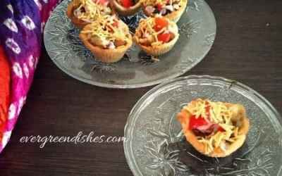 Baked Katori Chaat | Katori Chaat recipe