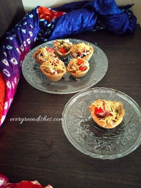 Baked Katori Chaat | Katori Chaat recipe