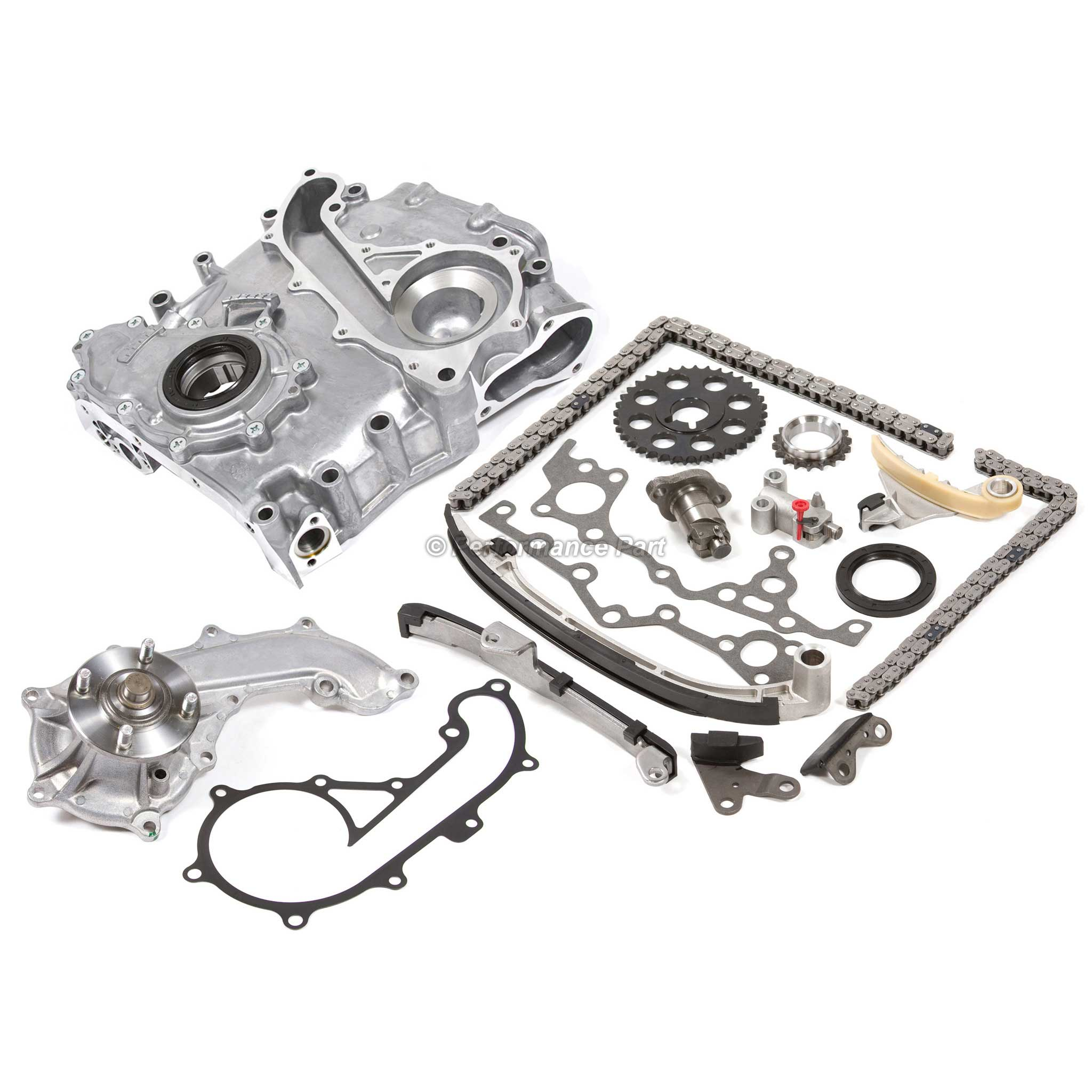 Timing Chain Cover Water Pump Oil Pump Kit Toyota 2 7l