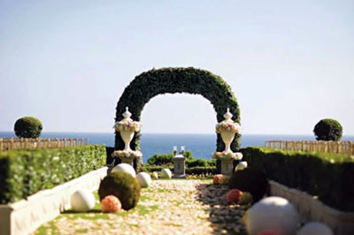 Artificial Boxwood Hedge Arch