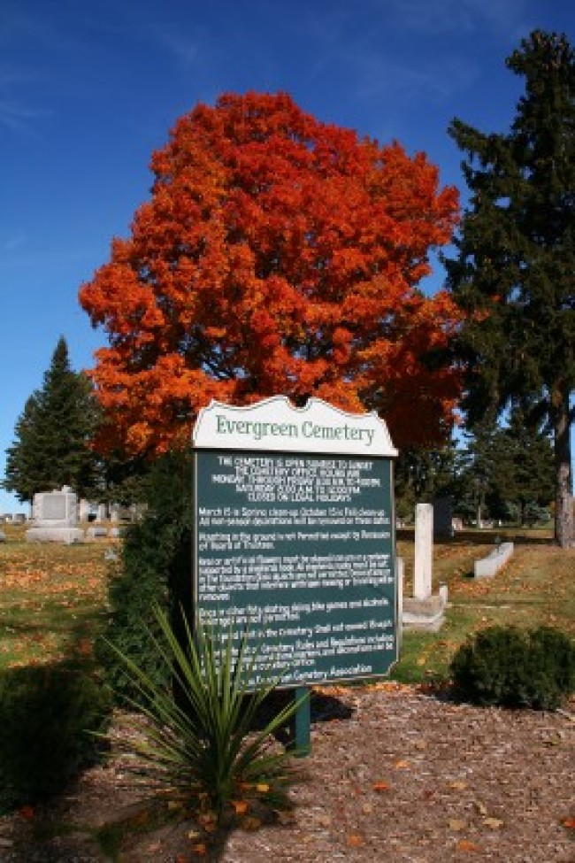 Entrance at Evergreen Cemetery