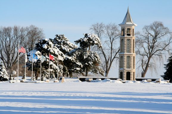 The Bellman Carillon Tower in the Winter