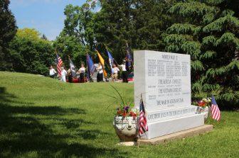 War Memorial Marker on Memorial Day