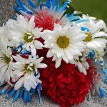 Memorial Day flowers at Civil War monument