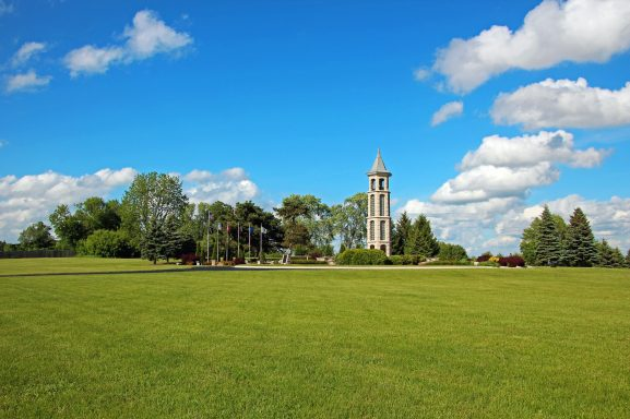 The Carillon Bell Tower in summer