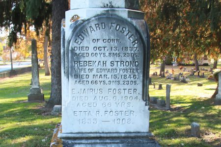 view of Edward side of Foster Marker