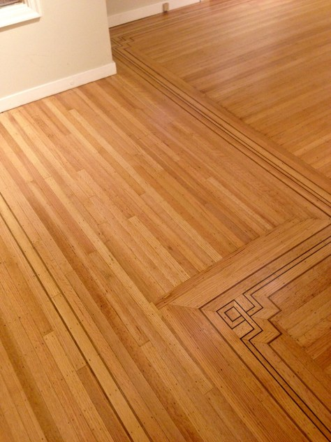 AFTER - oak hardwood floor repair
