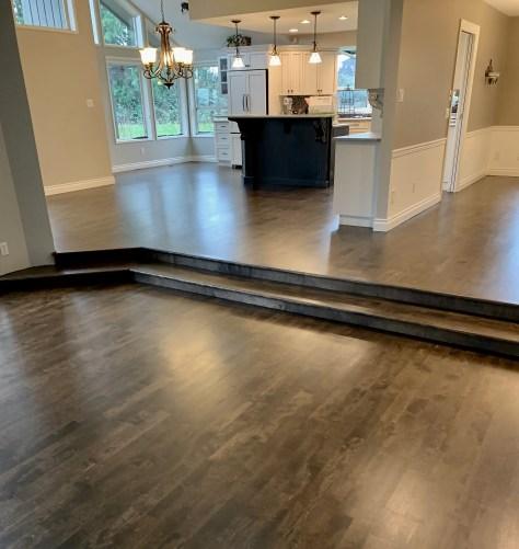 Birch hardwood floor