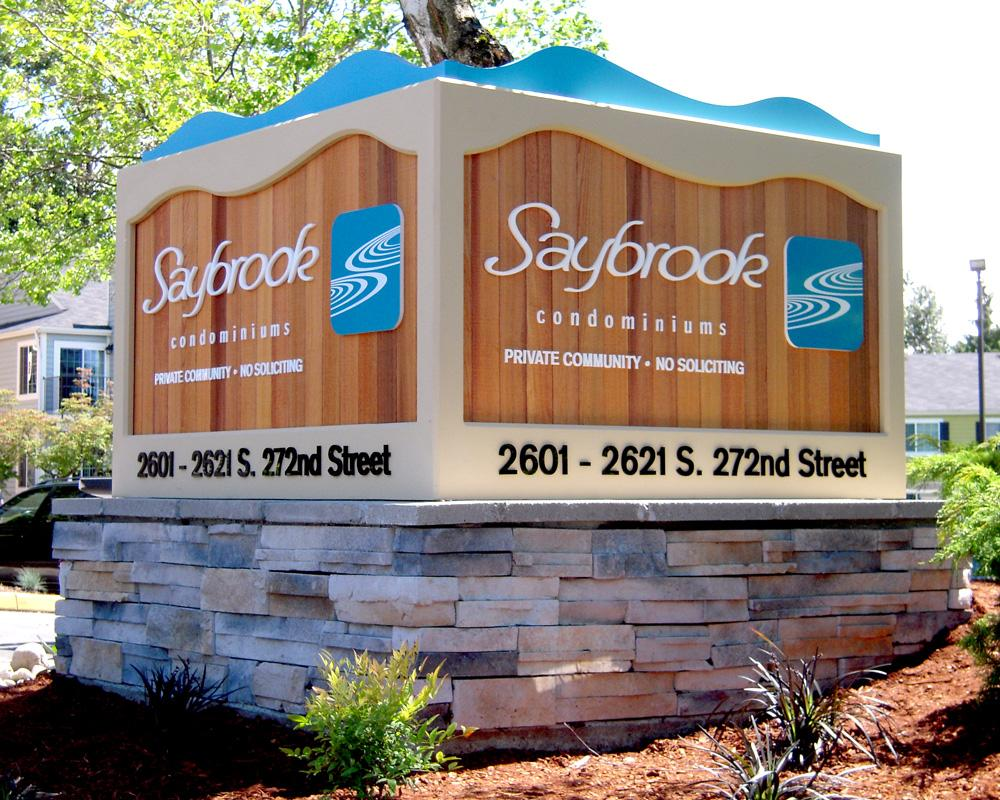 Saybrook features custom woodwork and visibility to maximize way finding.