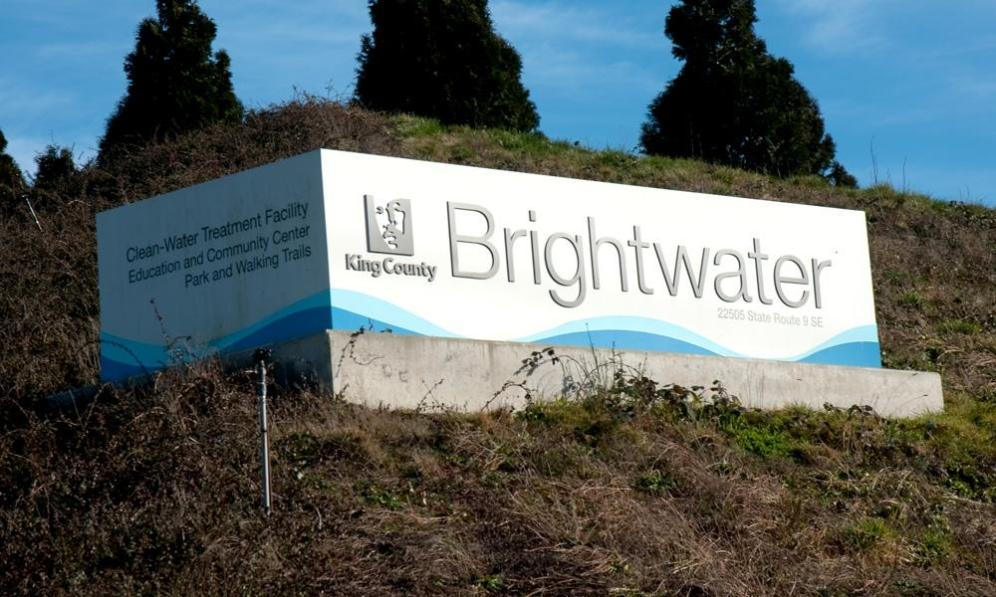 King County's Brightwater facility required a clean, clear monument sign to be erected on the side of a hill. Surveying your surroundings is the best way to approach signage concepts.